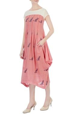 Sayantan Sarkar Pink draped style tunic dress