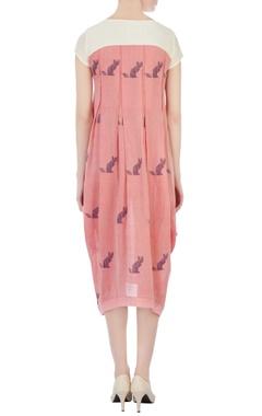 pink draped style tunic dress