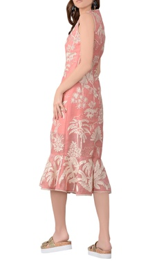 Light pink organza midi dress