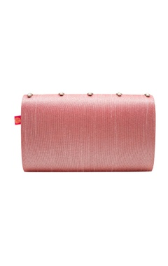 pink zardozi embroidered clutch