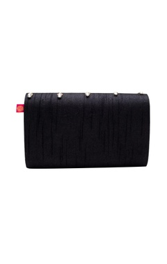 black zardozi embroidered clutch