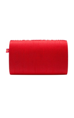 red cutdana work clutch