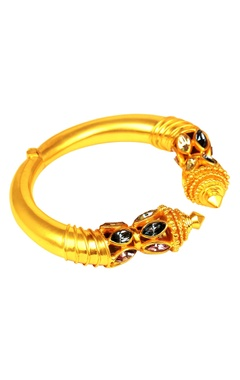 Gold plated swarovski ritual bangle