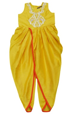 Marigold embroidered dhoti jumpsuit