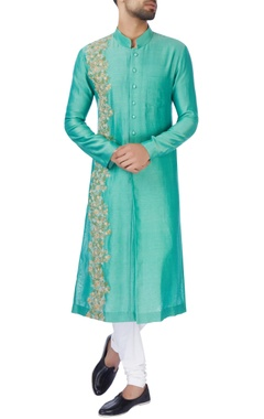 Jaya Rathore Turquoise blue chanderi silk kurta