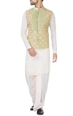 Jaya Rathore Light green raw silk jacket