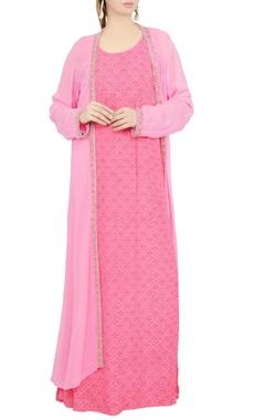 Debarun Pink printed maxi dress