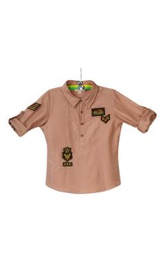 Beige military themed shirt
