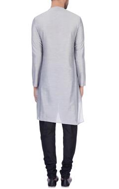 Grey modal cotton draped kurta