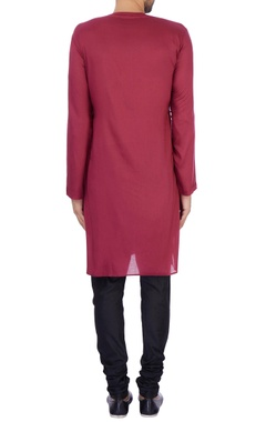 Wine modal cotton draped kurta