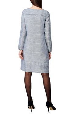grey handwoven cotton shift dress