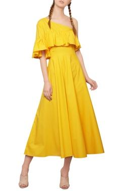 Manika Nanda Dandelion yellow ruffled dress