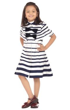 blue & white stripe dress