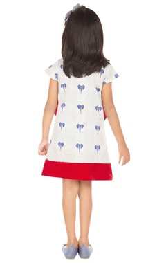 blue & white elephant print dress