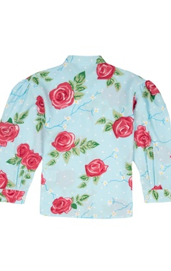Multicolored floral crepe shirt
