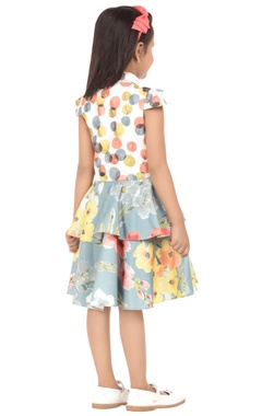 multicolored tiered style dress