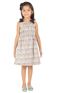 multicolored african printed dress
