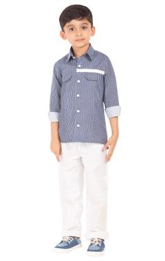 Blue & white stripe shirt