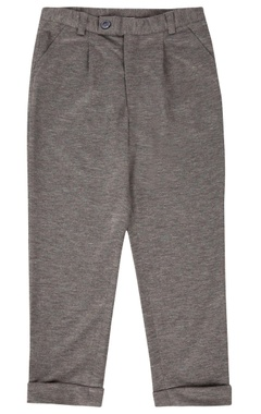 grey textured formal trousers