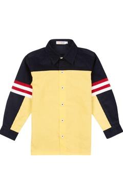 Blue & yellow corduroy shirt
