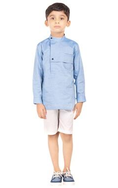 blue cotton formal shirt