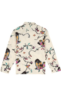 Multicolored watercolor printed shirt
