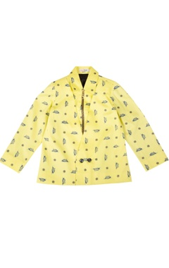 yellow nautical themed jacket