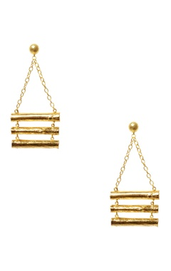 Eurumme Gold plated hand-crafted chain earrings