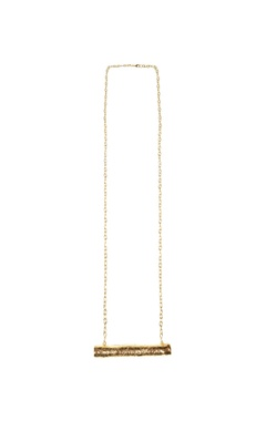 gold plated hand-crafted twig pendant necklace