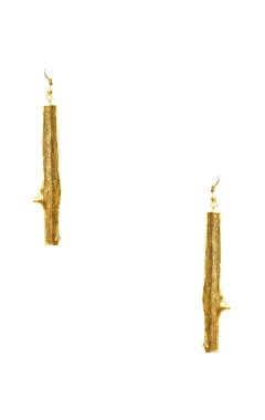 Eurumme Gold finished hand-crafted long earrings