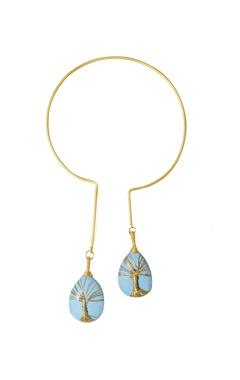 Eurumme Gold plated moonstone choker necklace