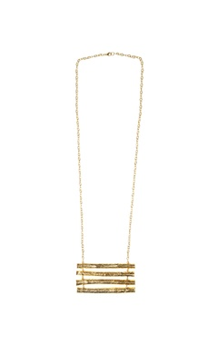 gold plated twig pendant necklace