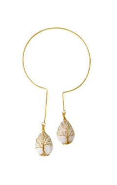 Eurumme White moonstone gold-plated necklace