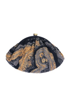black clutch with japanese beads