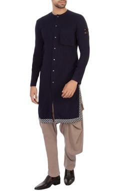 blue organic cotton & bamboo fabric kurta