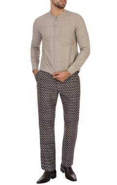 grey hand-woven organic cotton shirt