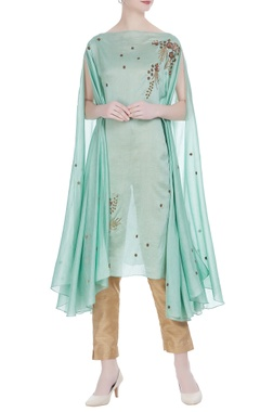Joy Mitra Embroidered tunic with flared sleeves