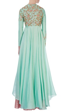 Mint green anarkali set