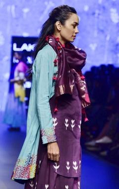 purple chanderi dyed scarf