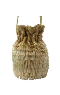 gold tassel & bead embellished potli