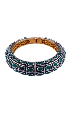 Silver & white mixed metal victorian bracelet