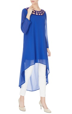 Komal Sood Blue high-low georgette tunic