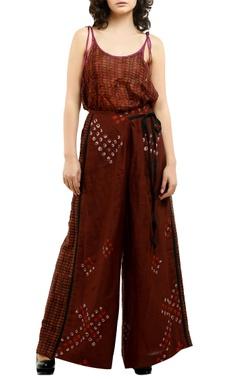 Saaksha & Kinni Grey cotton silk printed blouse