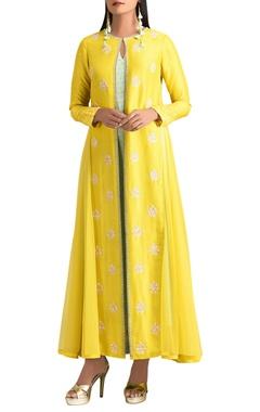 MadSam TinZin Yellow dupion silk jacket set