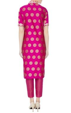 Pink gota lace kurta set
