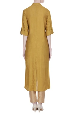 Long tunic with asymmetric hemline