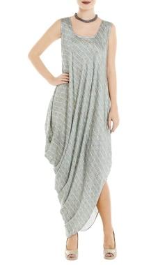 Roshni Chopra Blue dot printed dress