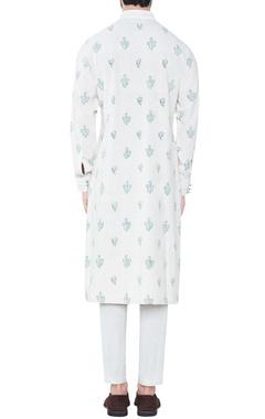 natural-colored mughal inspired hand-woven cotton kurta