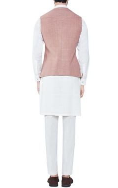 cinnamon hand-woven cotton bandi jacket