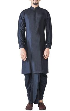 black spun silk dhoti pants